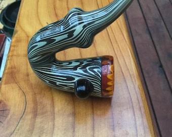 Glass Sherlock Wood Grain Fire Wig Wag Pattern Saxophone Pipe
