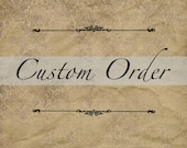 RESERVED CUSTOM ORDER for Tara  Classic Victorian Edwardian Style Cotton Tailored Shirt