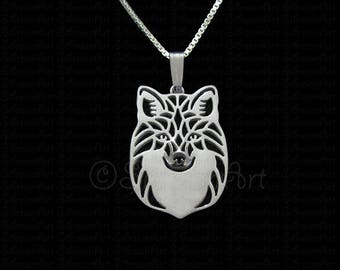 Red Fox - sterling silver pendant and necklace