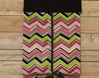 Classroom Safety Curtains-Eclectic Chevron & Black