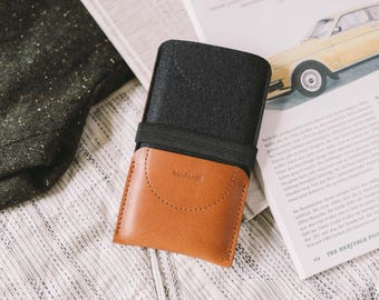"New OnePlus 5 Sleeve, OnePlus 5 Wallet, OnePlus 5 Case, OnePlus 5 Pouch, leather, wool felt, ""Kangaroo"""