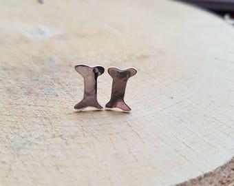 Bone Earrings, Dog Bones Earrings, Stud Earrings, Dog bone Jewelry, Earrings, Tribal earrings, Boho earrings, Silver earrings, Animal bones