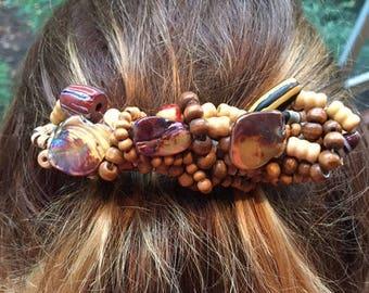 Handmade Beaded Hair Barrette