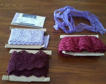 lot of purple lace