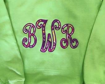 monogrammed youth sweatshirt