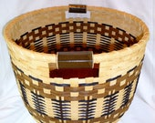 SALE - Handmade Round Toy or Laundry Basket