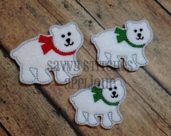 Polar Bear Felt Embroidery Design