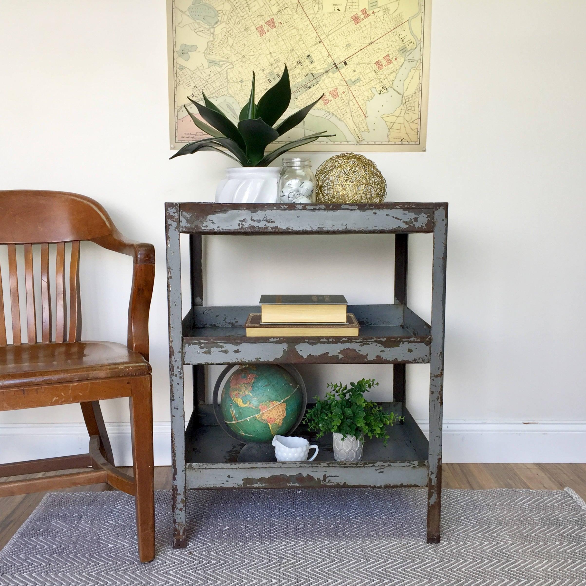 Vintage Industrial Table Industrial Style Furniture 3 Tier