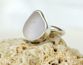 Light Lavender Sea Glass Ring, Size 7 - Genuine Sea Glass, Natural Sea Glass, Sea Glass Jewelry, Beach Glass, Beach Glass Jewelry Ring