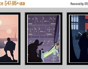 20% OFF SALE WOW Star Wars A Hero's Quest Set of 3 Posters
