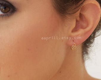 Tiny hoop earrings, gold or silver hoops, small hoops, gold wave  hoops, tiny hoops, medium hoop earrings, gold hoop earrings
