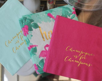 Champagne is for Champions Cocktail/Beverage Napkins