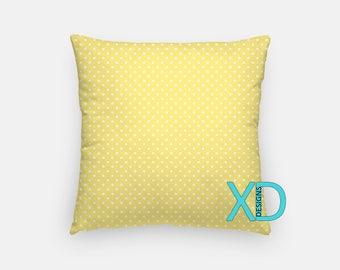 Dandelion Dot Pillow, Pale Yellow Pillow Cover, Spot Pillow Case, Yellow Pillow, Artistic Design, Home Decor, Decorative Pillow Case, Sham