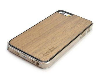 Wood iPhone SE Case, Walnut Wood iPhone SE Case, iPhone SE Case - CLW5