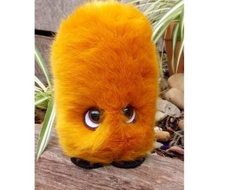 Ginger,GONK,approx 16 cms tall,GONKS,are Hand made and Crafted,with safety eyes,felt