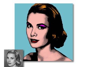 Votre portrait Andy Warhol - Portrait personnalisé pop art - digital
