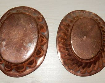 Swedish copper molds/ set of 2 / lovely / vintage