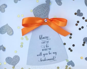 Will you be my bridesmaid will you be my bridesmaid bridal party thann you note
