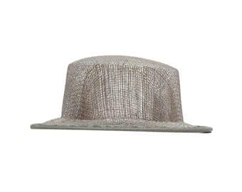 Grey Sinamay Top Hat Fascinator Hat Base - Available in 4 Colors