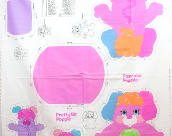 Vintage 1986 Popple  Cut and Sew Pillow Fabric
