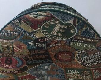 Neceser patchwork estilo vintage de 1990