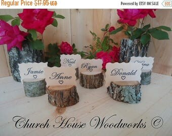 SALE 15 rustic place card holders, tree card holders, place holders, rustic wedding decor, wood place card holder, rustic wedding supplies
