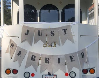 Just married huge banner. Made by a work from home  veteran.