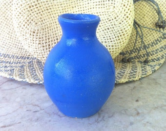 Blue Ceramic Vase, Vintage Art Pottery, Blue Art Pottery Vase, Arts and Crafts Era, Shape Number Eleven, Gorgeous Glaze,