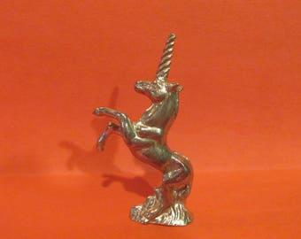Pewter Unicorn Figurine