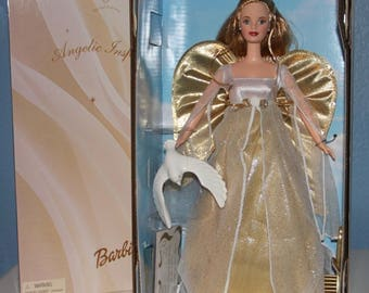 Angelic Inspirations Barbie Doll - Angel Barbie Doll - Caucasian Blonde Barbie -