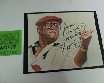 1980's Redd Foxx Photograph w/autograph and note to fan