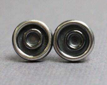 Silver Circle Stud Earrings, Circle Earrings, Circle Studs, Geometric Earrings, Sterling Silver Post Earrings,Sterling Silver Studs,Earrings