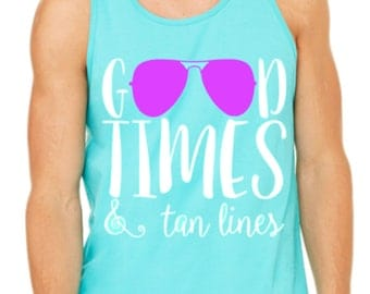 Good Times & Tan Lines Summer Tank Top/Shirt