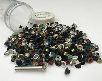 Vintage Grommets/EyeletsPaper Scrapbooking Crafting  White Brown Green Blue Red Gold Silver Black 400-600 pieces, Eyelet Punch