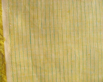 Extra Wide Striped Medium Weight Pure Linen Fabric by Yard