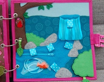 PATTERN & TUTORIAL Quiet book page Fairybook - Waterfall
