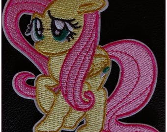 Embroidered patch fusible little pony yellow pale kawaii drawing animated x 1