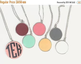 ON SALE Monogram Necklace, Initial Necklace, Monogram Jewelry, Bridesmaid Gift, Party Favor