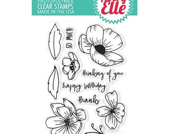 Avery Elle STamp and Die Combo Set - Hand Drawn Florals