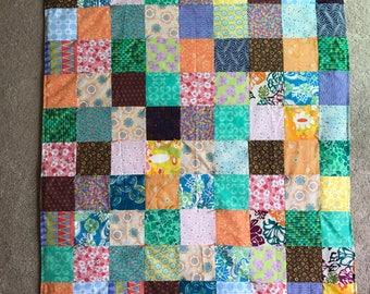 Cozy Patchwork Quilt, lap/baby size