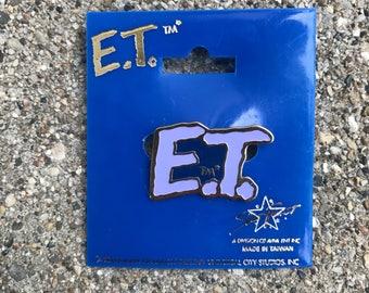 Vintage Enamel Lapel Pin or Hat Pin - E.T. the Extra-Terrestrial Movie Logo