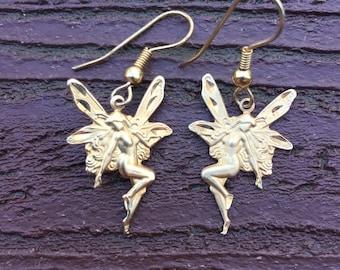 Vintage Fairy Nymph Pixie Earrings