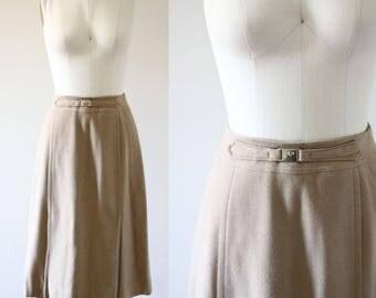 1970s camel hair skirt // vintage wool skirt// vintage skirt