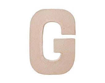 12 INCH Paper Mache Letter G - Cardboard Letters - Craft Supplies
