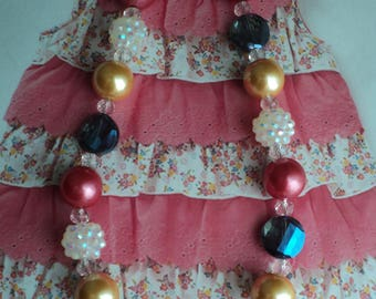 M2M Permission Slip Tunic  Back To School 2017 Collection  Bead Necklace, Toddler, Girls, Birthday, Photo Prop