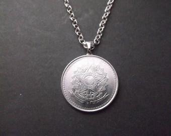 Brasil 10 Coin Necklace -Brasil Coin Pendant