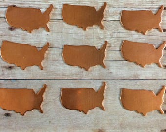 USA stamping blanks, copper pendant, jewelry supplies