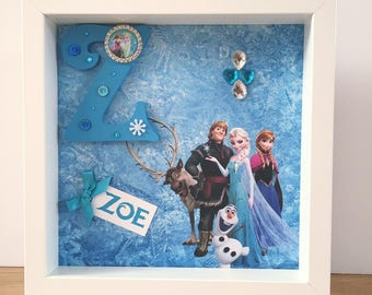 Personalised Frozen Initial Frame | personalised gift, personalised birthday gift/Christmas gift