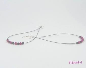 """Earrings """"Big earrings"""" beads and black"""