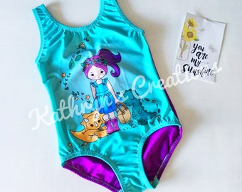 50% OFF:  Girls' Dinogirl Leotard/Swimsuit